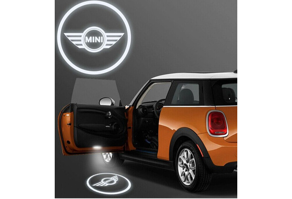 2 /× LED Door Step Courtesy Light Laser Shadow Design Logo Projector Lamp Welcome Light For ONE//S//JCW R54 Clubman R55 R56 R57 R60 Countryman 19