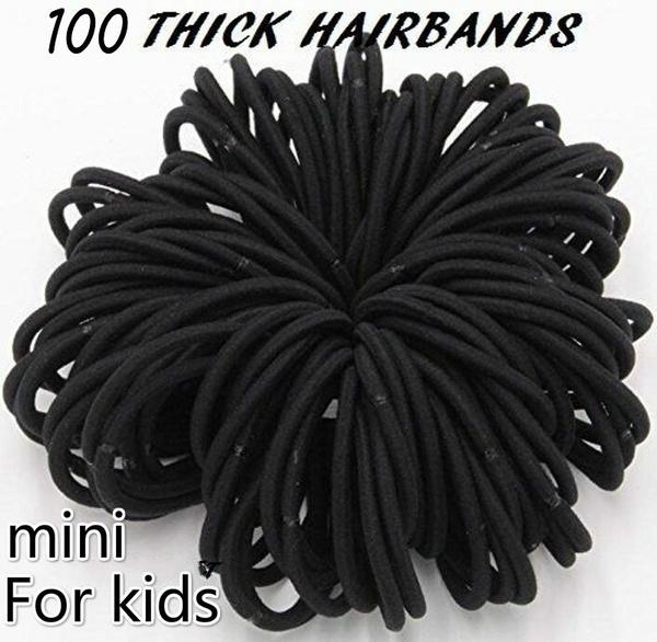 hairelastictie, noir, hair tie, colorfulhairbandsjewelry