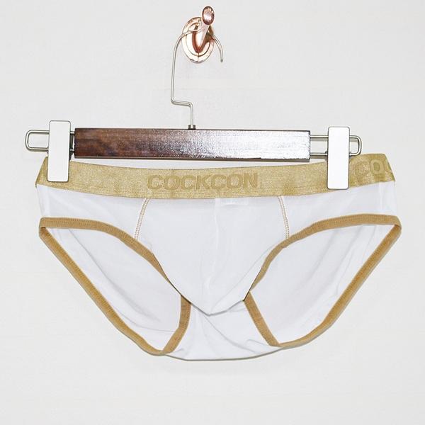 Underwear, mensseethroughunderwear, gold, men's briefs