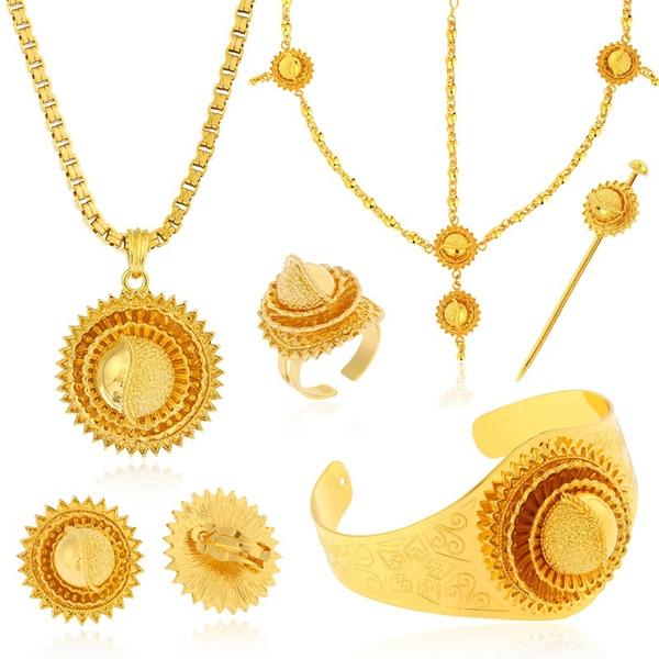 goldplated, Jewelry Set, Set, eritreanjewelryset
