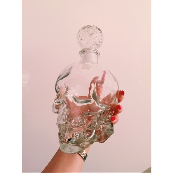 vodka, skull, skullheadbottle, Glass