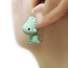 Stud Earring, polymer, Dinosaur, Fashion