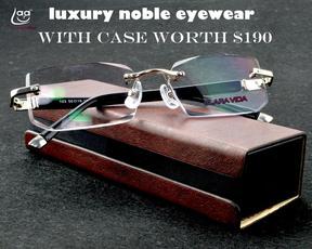 Box, Luxury, readingglassesformen, rimlessreadingglasse