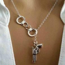 Fashion, Jewelry, gunpendantnecklace, handcuffnecklace
