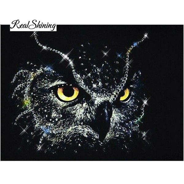 Owl, DIAMOND, stitch, Home & Living