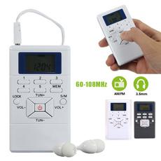 Mini, amfmradio, Earphone, portable