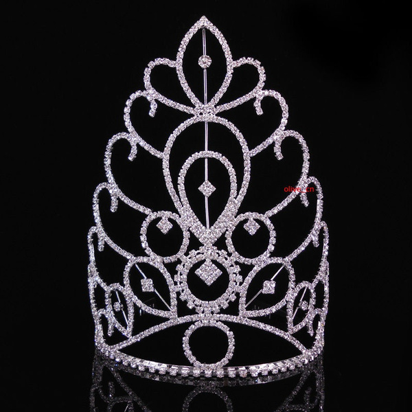 pageant, crown, Large, Crystal
