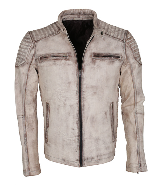 Fashion, whiteleatherjacket, leather, men leather jackets