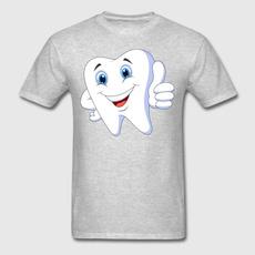 fathersdaygift, amusingsmilingtoothde, Cotton T Shirt, onecktshirt