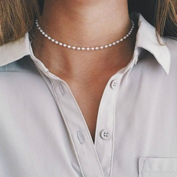 Fashion, Jewelry, pearls, Choker