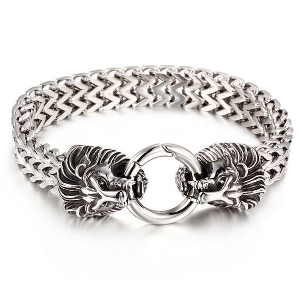 Steel, lionheadjewelry, lionbracelet, lionjewelry