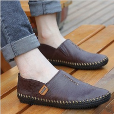 Summer, England, leather shoes, casual shoes for flat feet