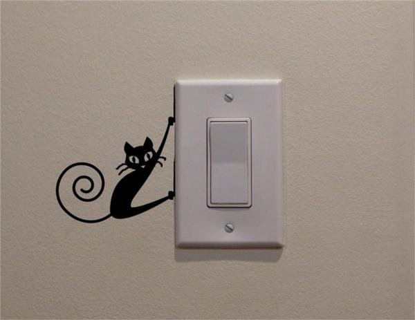 art, lightswitchdecal, walldecalsampsticker, Stickers
