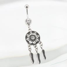 navel rings, Jewelry, bellyring, Vintage