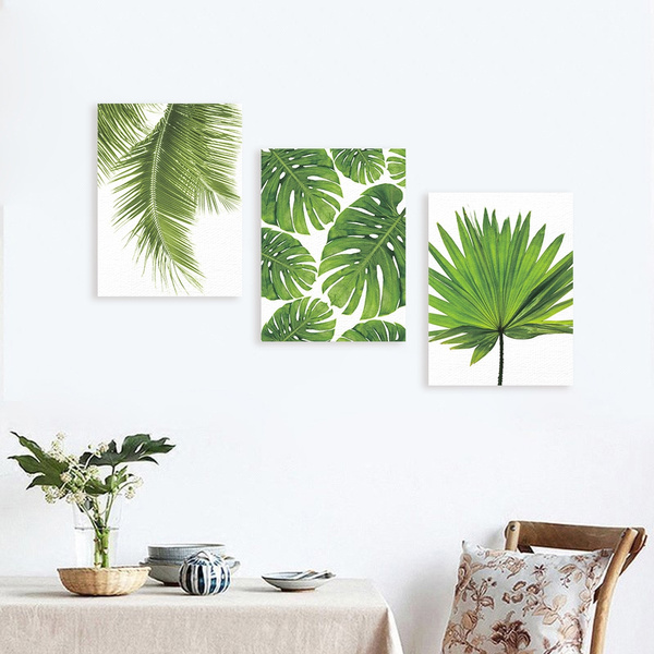 Tropical Leaves Poster Prints Art Canvas Plant Modern Wall Painting Home Decor