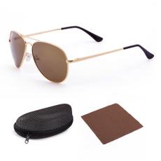 Aviator Sunglasses, Fashion, brown, Metal