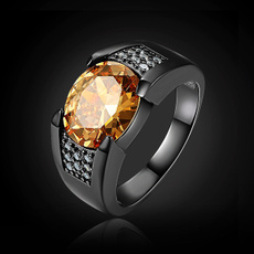 blackgoldring, Jewelry, gold, Topaz