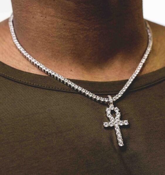 hip hop jewelry, Cross necklace, gold, cuba
