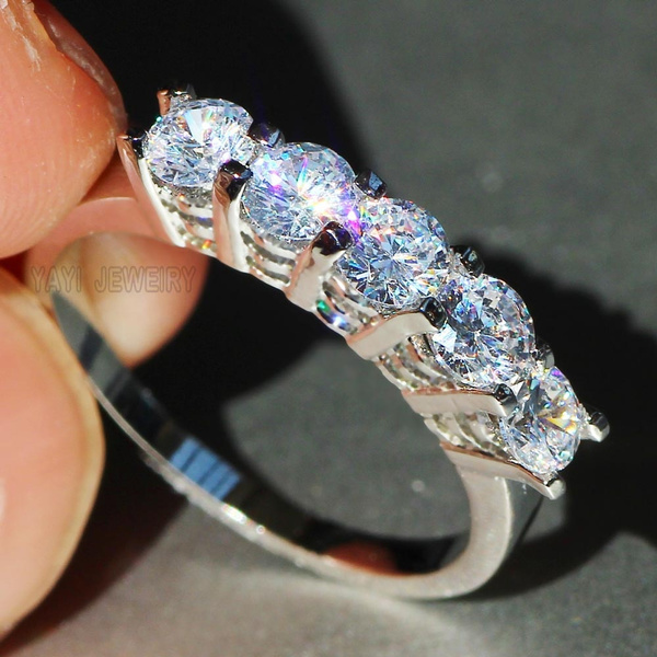 Beautiful, DIAMOND, 925 sterling silver, 925 silver rings