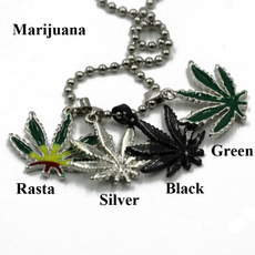 weedmarijuana, marijuanaleaf, Nacklace, Jewelry