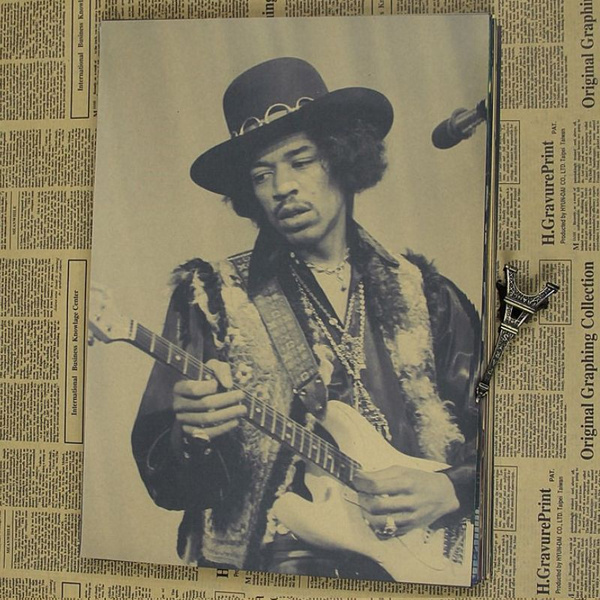 jimmyhendrix, kraft, rockguitarist, Home & Living