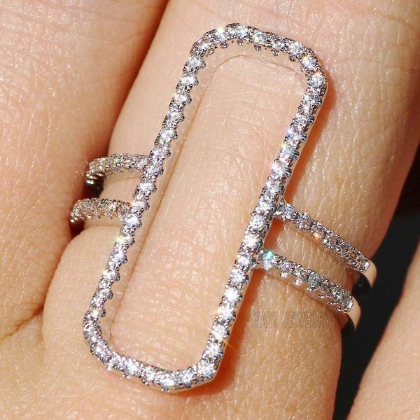 DIAMOND, 925 sterling silver, 925 silver rings, Engagement Ring