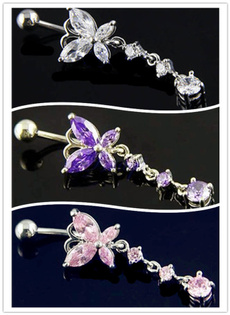 butterfly, navelpiercingjewelry, Stainless Steel, Jewelry