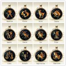 constellationnecklace, glasspendantnecklace, Jewelry, Gifts