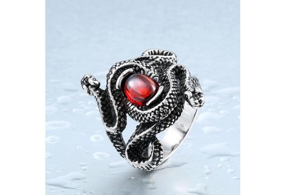 Natural Born Killers Ring Snake Totem Rings