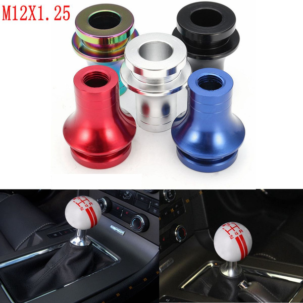 Black Shift Knob Boot Retainer Adapter for Manual Gear Shifter Lever 12X1.25
