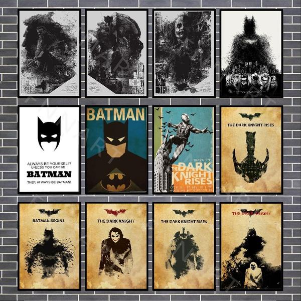 Dark Knight, vintageposter, Home Decor, brown