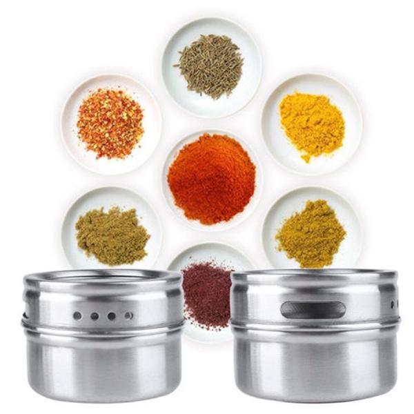 jarstin, Steel, Container, spicestorage