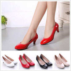 weddingheel, Fashion, casual leather shoes, Womens Shoes