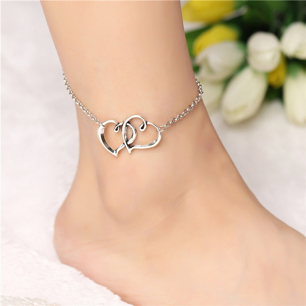 Heart, Fashion, Love, Anklets