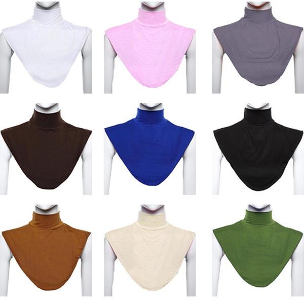 Womens Muslim Moslem Hijab Islamic Turtleneck Dickey Mock Modal Neck Cover Nice.