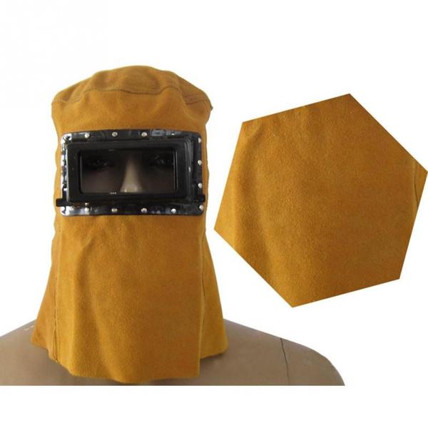 Helmet, weldinghelmet, leather, leatherhoodweldinghelmetmask