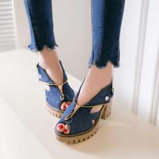 womenszippersandal, wedge, Sandals, Women Sandals