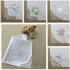 butterfly, vintagecotton, Flowers, Lace