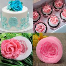 jellymakingmold, kitchendiytool, Flowers, rosefondantmold
