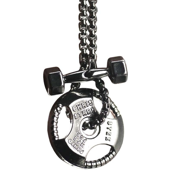 fitnessnecklace, Jewelry, weightplate, Fitness