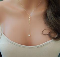 ynecklace, Jewelry, lariatnecklace, Simple