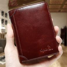 leather wallet, shortwallet, Fashion, leather