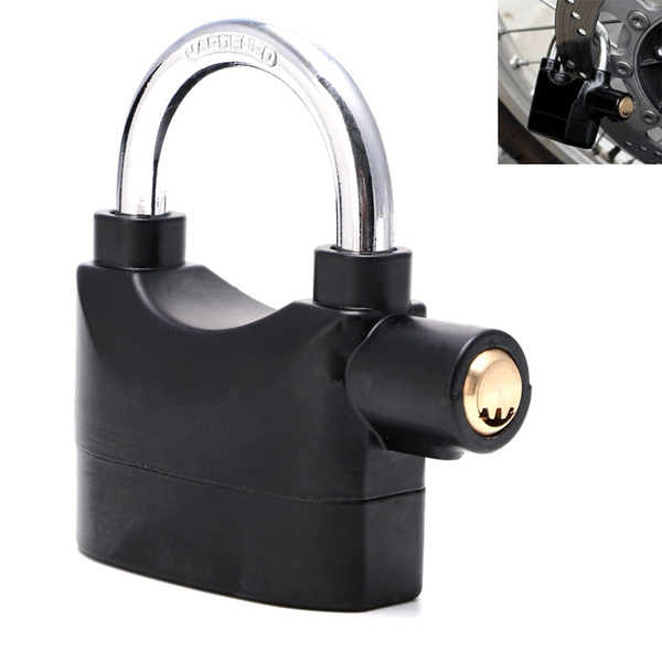 Waterproof Siren Alarm Padlock Alarm Lock for Motorcycle Short Beam Bicycle Bike
