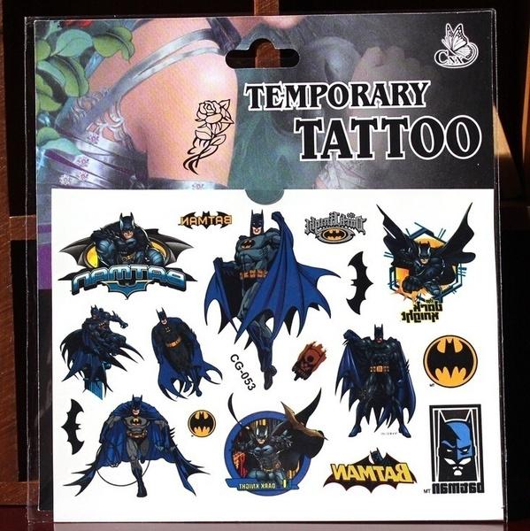 tattoo, Superhero, Waterproof, Batman