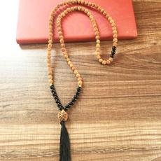 blackonyxnecklace, Heart, Tassels, Yoga