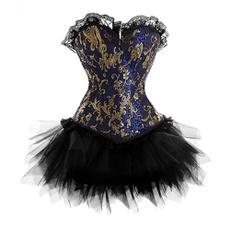 sexycorsetprinted, gold, Dress, Halloween