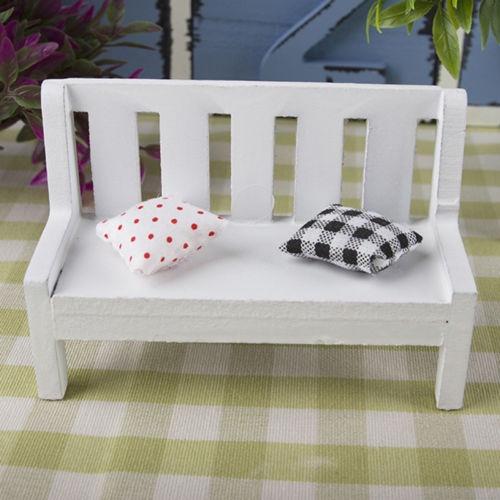 Popular 1 12 Mini Wooden Bench Dolls, Miniature Garden Furniture Uk