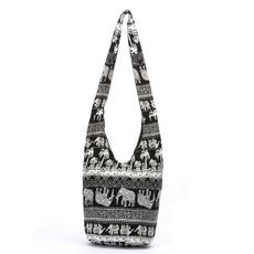 women's shoulder bags, Shoulder Bags, Cotton, Totes