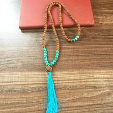 8MM, Turquoise, prayernecklace, Yoga