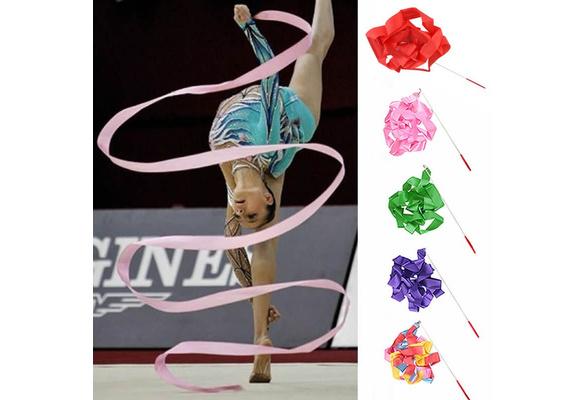 4m Kids Dance Ribbon  Gym Rhythmic Art Gymnastic Ballet Streamers Twirling Ro*ss